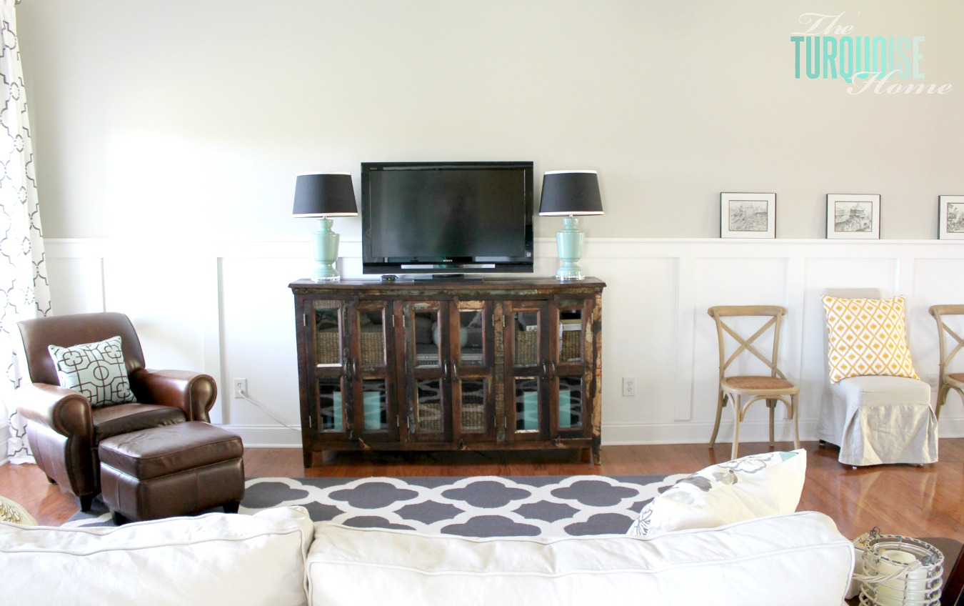 dark wood furniture living room decorating ideas large wall mirrors for four reasons to love the turquoise home some warm tones lend beautiful clean cottage style we all i know feeling in my