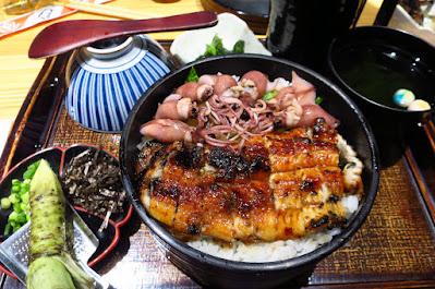 Man Man Japanese Unagi Restaurant, hitsumabushi hotaru ika