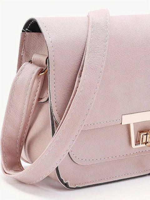 Twist Lock Flap Crossbody Bag
