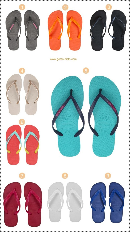 Sandálias havaianas - tendência para o verão 2018