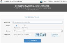 Padrón Electoral 2017: ya se puede consultar online el padrón definitivo para las PASO
