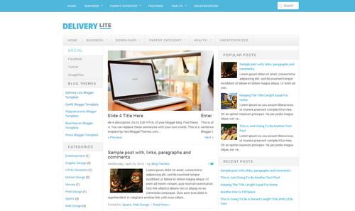 Template Blogspot DeliveryLite  tin tức đẹp miễn phí