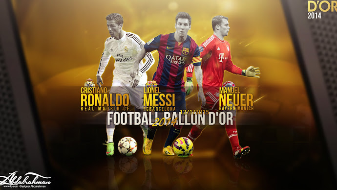 Wallpaper: FIFA Ballon dOr 2014. Ronaldo, Messi, Neuer