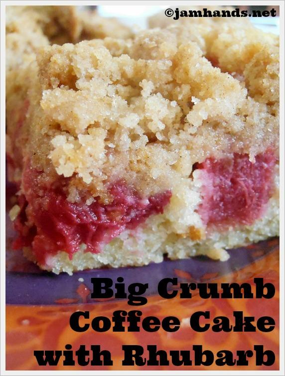 Jam Hands Big Crumb Coffee Cake With Rhubarb