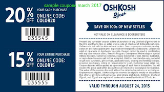 free OshKosh B'gosh coupons march 2017