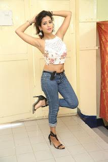 Deekshita Parvathi in a short crop top and Denim Jeans Spicy Pics Beautiful Actress Deekshita Parvathi January 2017 CelebxNext (231).JPG