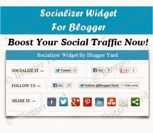 Chèn widget socializer 3 trong 1 bên dưới bài đăng