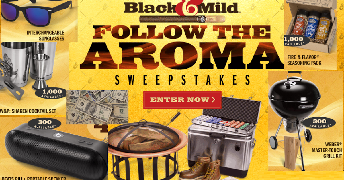 Black and Mild Follow the Aroma Instant Win Giveaway - 25,201