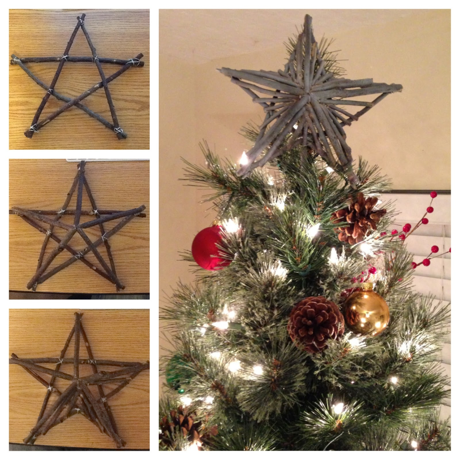 Star For A Christmas Tree: M@'s Projects: Rustic Star Tree Topper