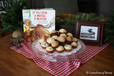 If You Give a Moose a Muffin Party | Moose Themed Party by CustodiansofBeauty.blogspot.com