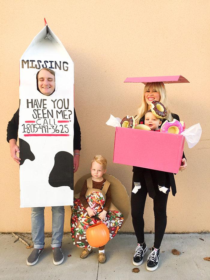 Donut And Milk Costume