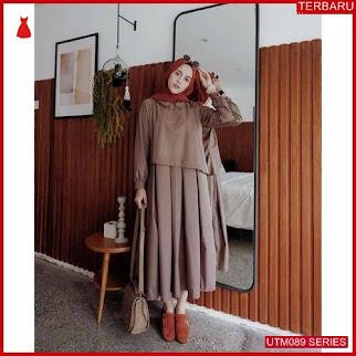 UTM089Z70 Baju Zaitun Muslim Dress Dewasa Milo UTM089Z70 059 | Terbaru BMGShop