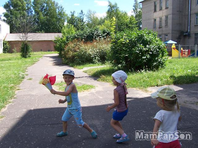 эстафета олимпийского огня с детьми