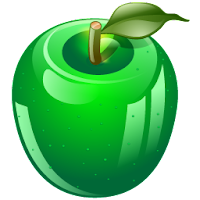 green apple fruit illustrations icons