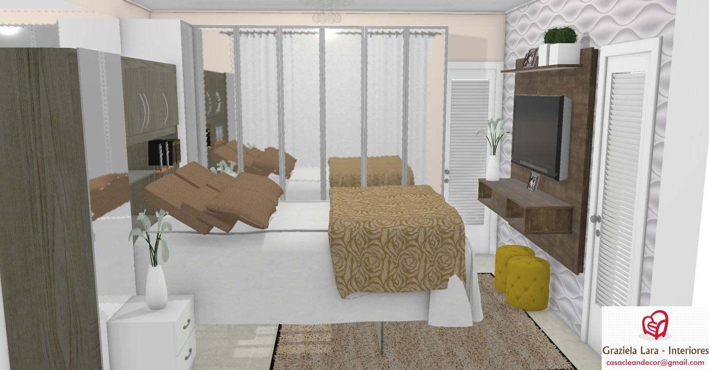 Construindo Minha Casa Clean Quarto De Casal Pequeno Com Arm Rio  ~ Quarto Decorado Casal Pequeno E Quarto De Visita Pequeno