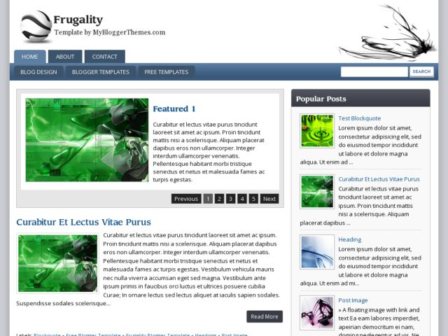 Frugality Blogger Template
