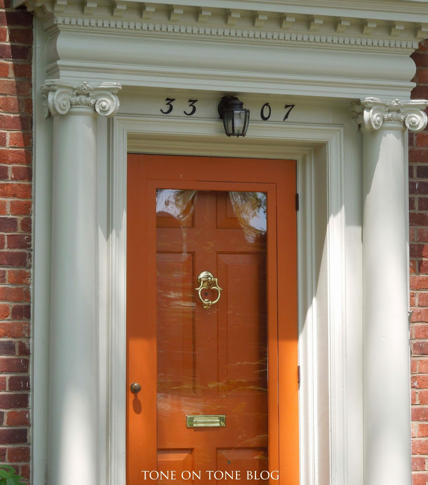 Painting inside of front door - Tone On Tone Storm Doors Ideas And Inspirations