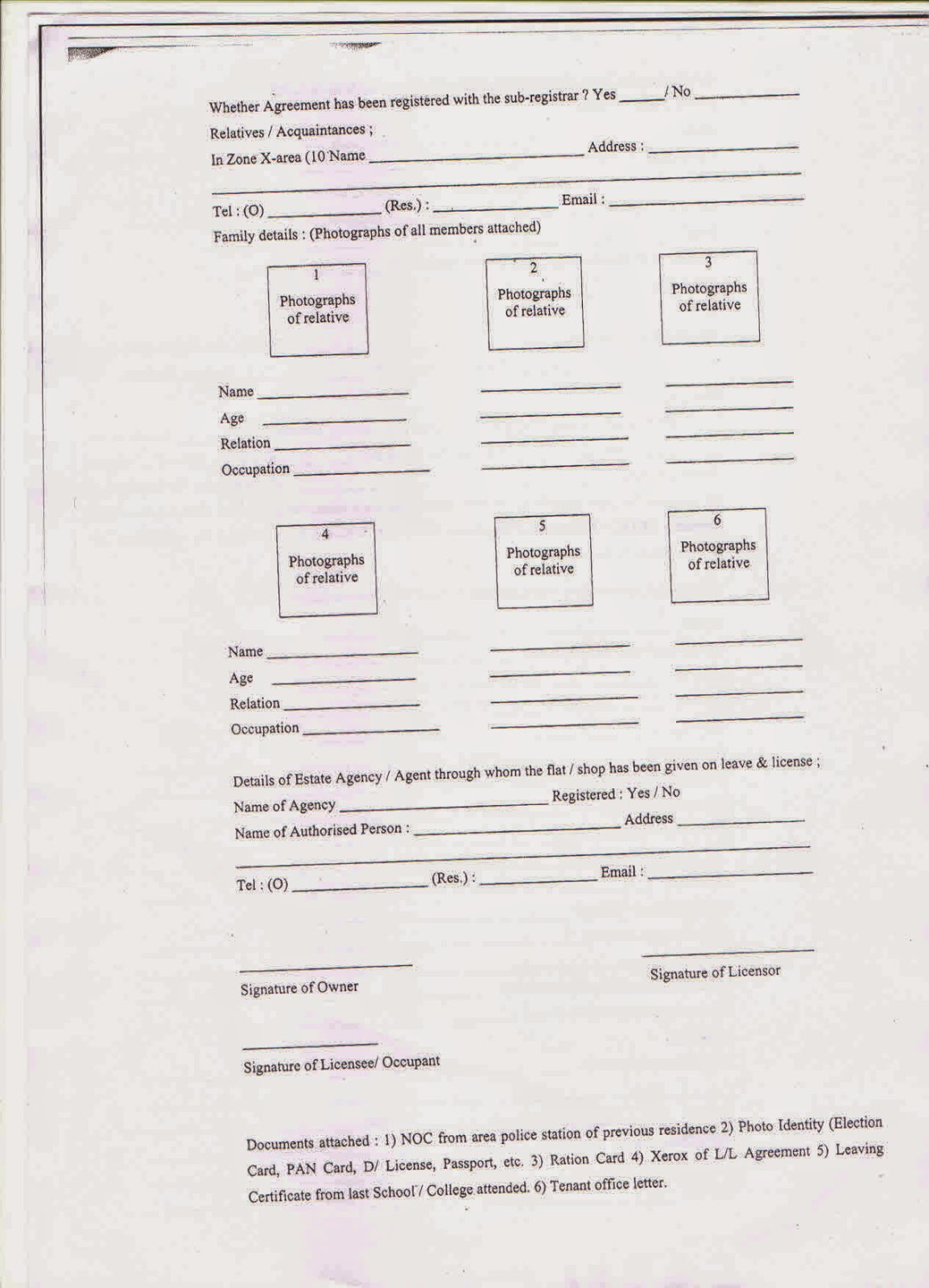 Format Of Noc Letter From Previous Auditor. SAHAKARSUTRA Police Verification format for a Cooperative Housing Society