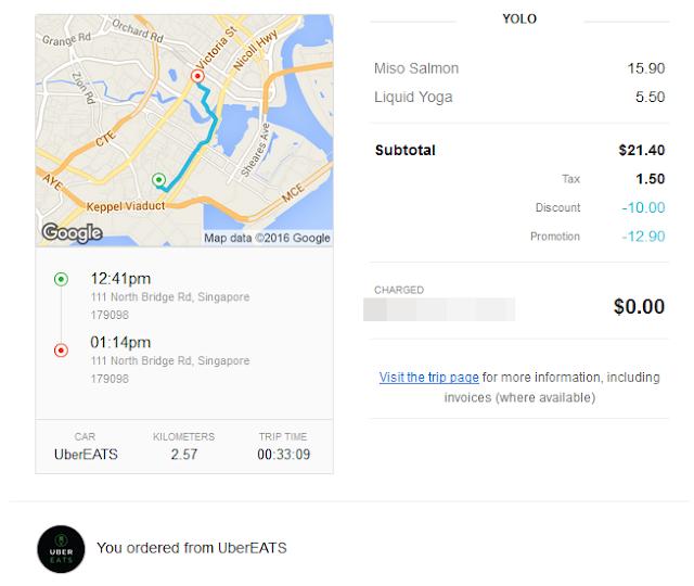 UberEATS Receipt
