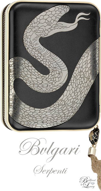 Brilliant Luxury ♦ Bvlgari Boxy Minaudière Serpenti