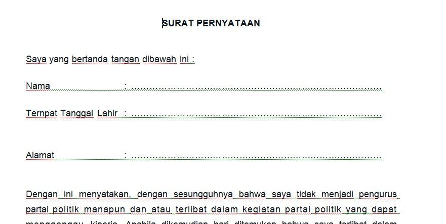 Download Surat Pernyataan Calon Pendamping Proffesional
