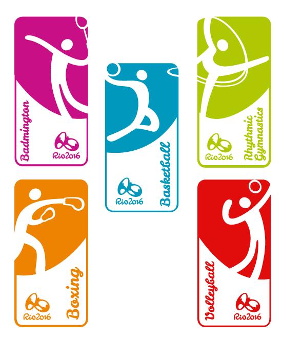 Iconos deportes Olímpicos Rio 2016 - vector