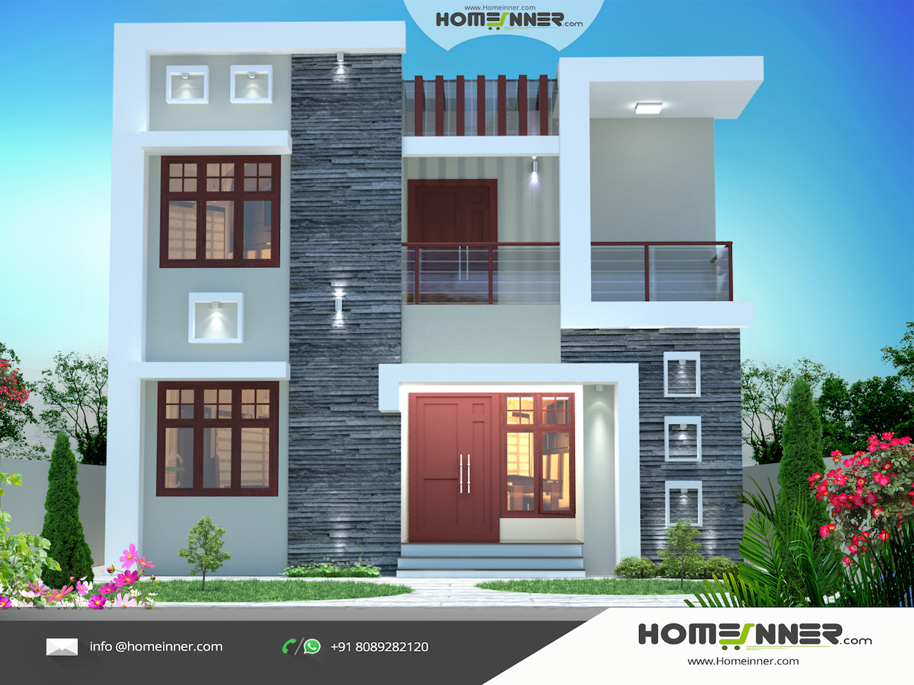 House-Designs-Exterior-With-House-Plans. Maharashtra House Design 3d Exterior Design
