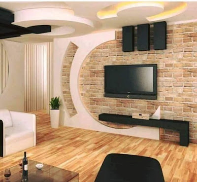 Latest gypsum board Tv wall design for living room