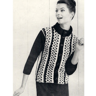 Knitted Fair Isle Cardigan Jacket Pattern