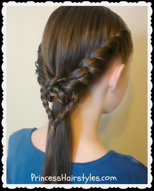 2 easy heart knot ponytails valentine's