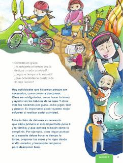 Apoyo Primaria Formación Cívica y Etica 2do. Grado Bloque II Lección 2 Mi agenda personal