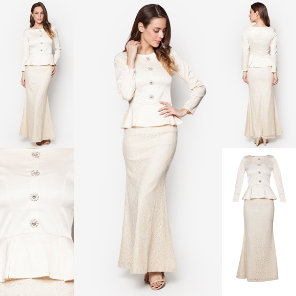 November 2016 Baju Kurung Moden Peplum Salma Beige By Vercato - Fesyen Trend Terkini