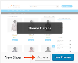 Activating WP Theme