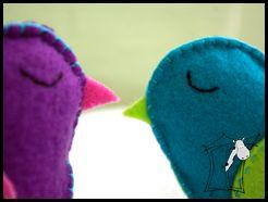 Ptaszki z filcu dla Dwóch Urwisów