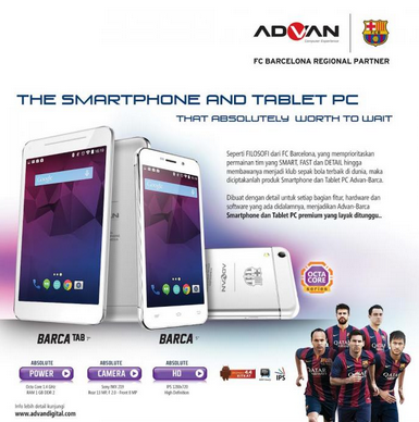 Gambar Advan Smartphone Barca