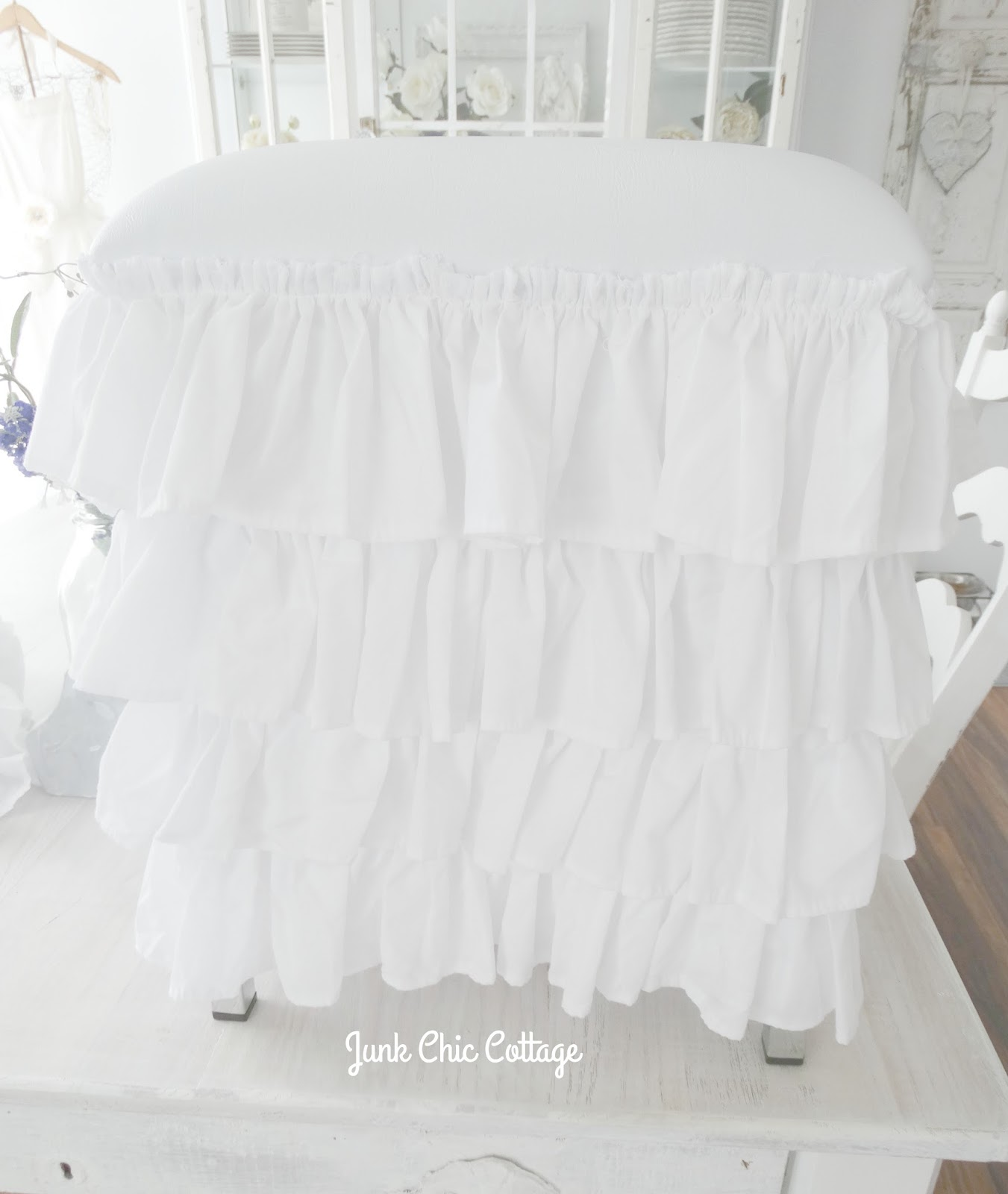 Junk Chic Cottage: Ruffles Repurposed, Shower Curtains Shout Out ...