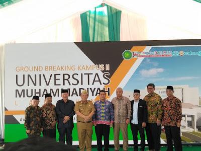 Gandeng PT Wijaya Karya, Gedung Senilai 156 Miliar Milik Muhammadiyah Mulai Dibangun di Sukarame