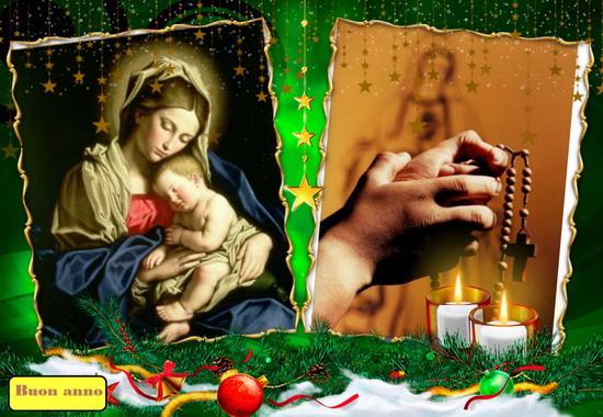 Santo Rosario continuo, di 24 ore, il 1º gennaio, Solennità di Santa Maria Madre di Dio.