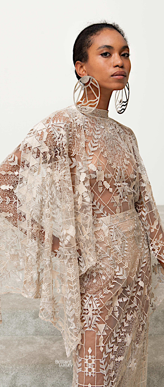 Brilliant Luxury♦Sandra Mansour lace wedding dress spring 2019