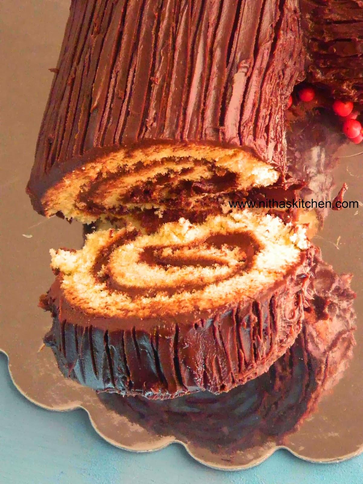 Yule Log Cake B 251 Che De No 235 L French Traditional