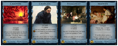 Cards with Charms and Reactions