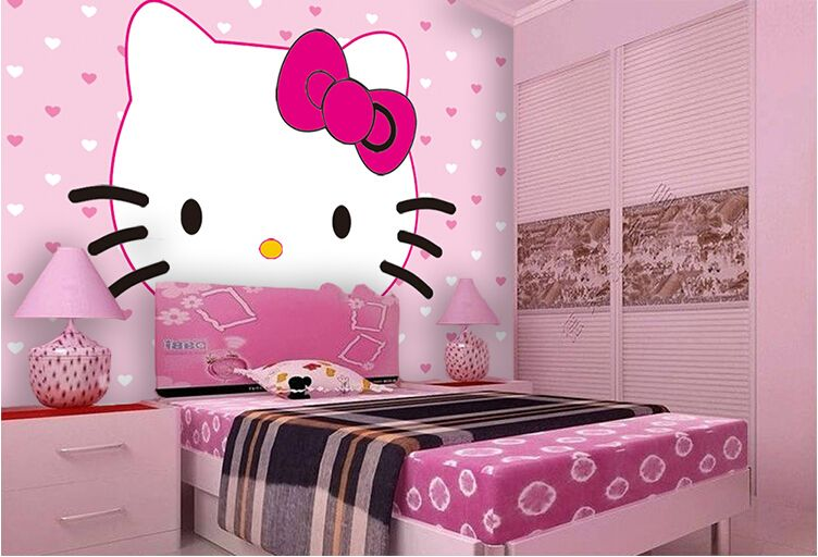 Fotos de camas con cabecero hello kitty ideas para for Cuartos decorados kawaii