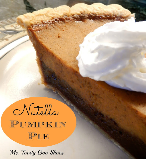 Nutella Pumpkin Pie | Ms. Toody Goo Shoes #Thanksgiving