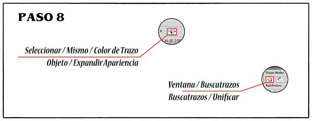 Tutorial en español de Adobe Illustrator para Crear Cabello Estilizado Paso 08