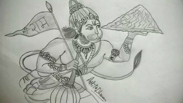 He is an incarnation of the supreme lord shiva free download the hd pencil sketch images wallpapers and photos of lord hanuman