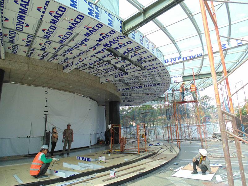 Daftar harga Acp maco, keterangan gambar : Acp Maco digunakan sebagai pelapis bangunan, gambar bangunan Elnusa di Jl TB Simatupang, Jakarta, yang menggunakan produk ini