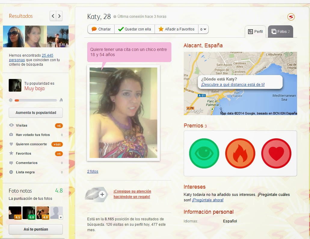perfil mujer badoo