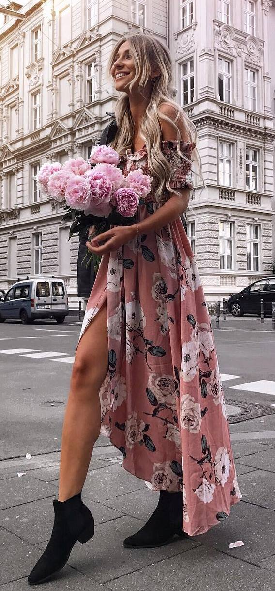amazing floral maxi dress
