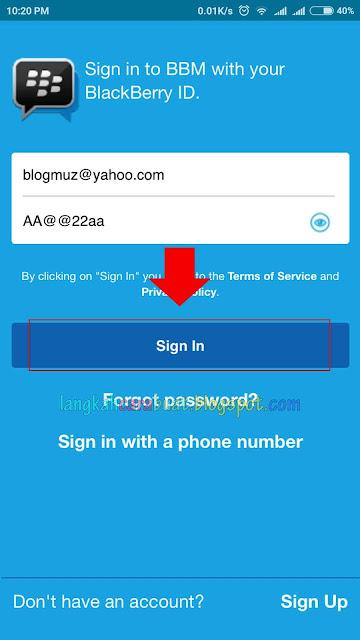 Cara Masuk BBM Dengan PIN Lama DI HP Android