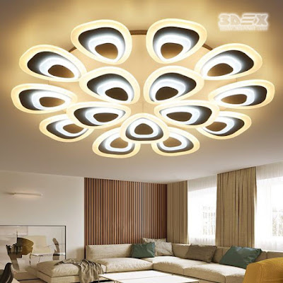 Gypsum board designs for false ceiling LED lights